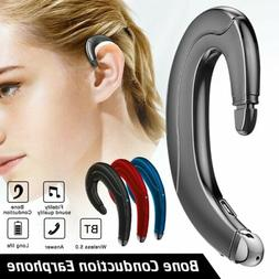 Bluetooth 5.0 Headphone Bone Conduction Handsfree Driving Ca