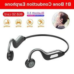 Bluetooth 5.0 Headset Stereo BTE Bone Conduction Wireless He