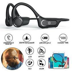Bone Conduction Headset Open Ear Bluetooth 5.0 Wireless Head