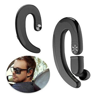 2x wireless bt bone conduction headphone headset