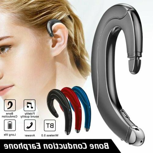bluetooth 5 0 headphone bone conduction handsfree
