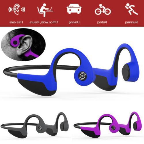 Bone Conduction Bluetooth 5.0 Open-Ear Headphones Sweat-proo