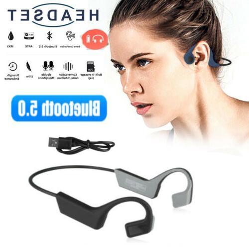 bone conduction headset wireless bluetooth 5 0