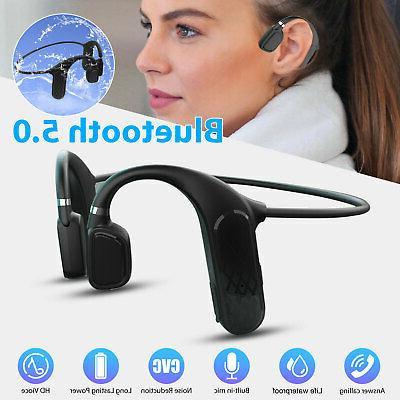 bone conduction headset bluetooth 5 0 wireless