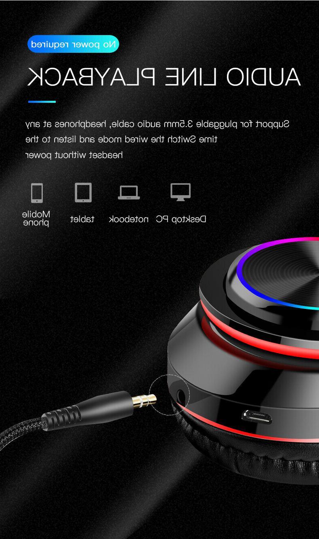 Super Headphones Foldable Headsets Mic