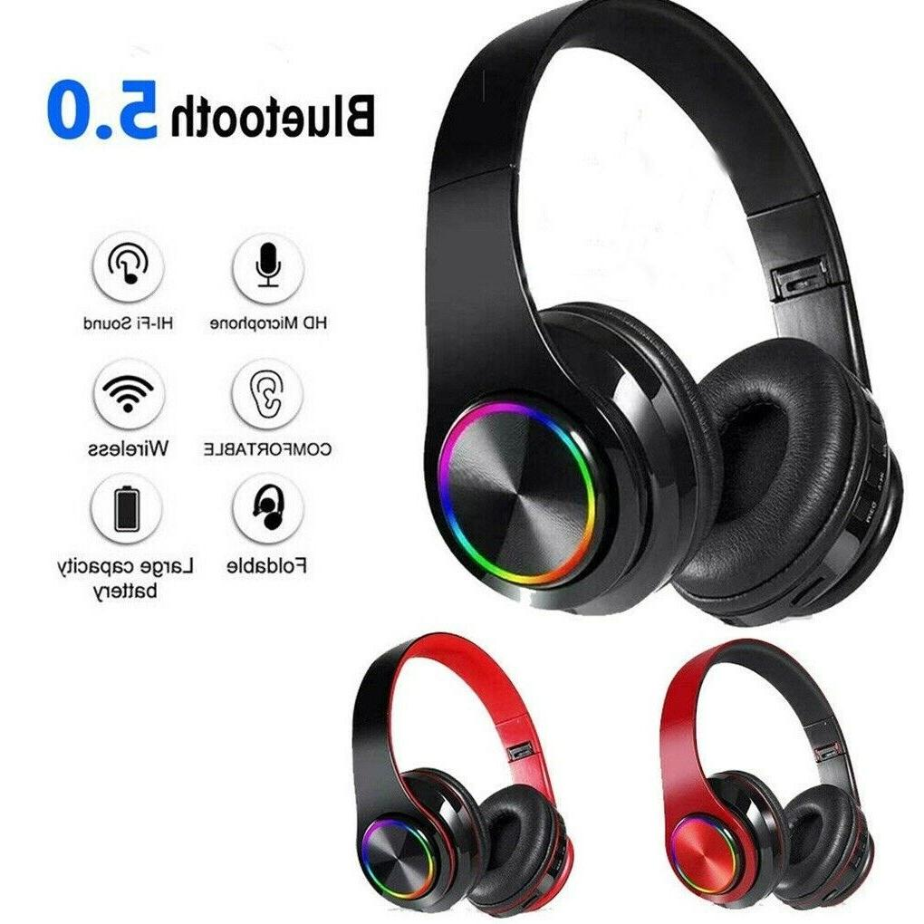 super bass wireless bluetooth headphones foldable stereo
