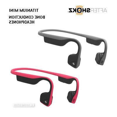 titanium mini wireless bluetooth bone conduction headphones
