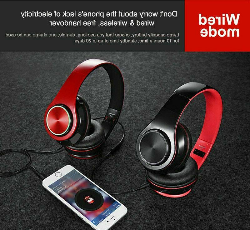 Wireless Headphones Headsets Mic
