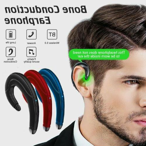 wireless bone conduction earphone bluetooth 5 0
