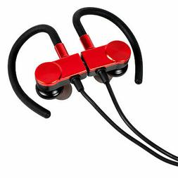 Deco Gear Magnetic Wireless Sport Earbuds - Red - Carrying C