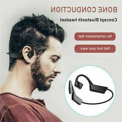 Mini Wireless Bone Conduction Headphones Sports Outdoor Blue